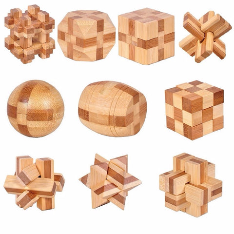 10 pcs/set  Wooden Puzzle Toys