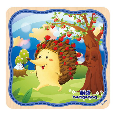 Wooden Hedgehog Jigsaw Puzzle