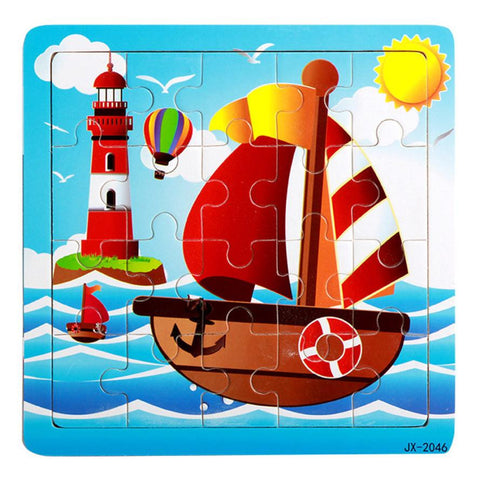 Wooden Sailboat Jigsaw Puzzle