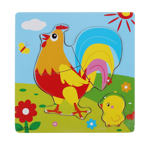 Wooden Rooster Toddler Puzzle