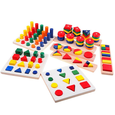 8 piece Wooden Geometric Sorting Games