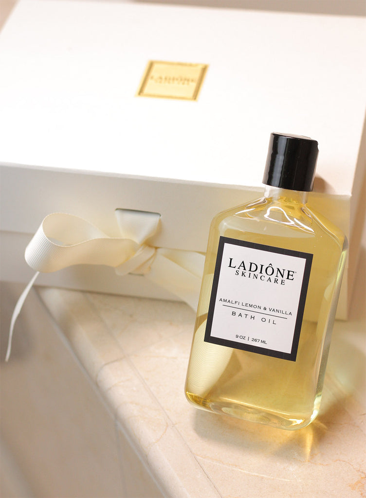 organic natural amalfi lemon vanilla bath oil