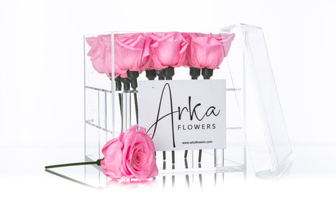 Le Carre Eternal Roses Arrangement - Square / 9 Roses