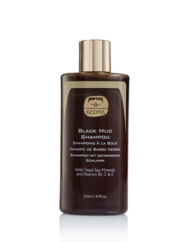 Black Mud Shampoo with Dead Sea Minerals & Vitamins B5, C & E