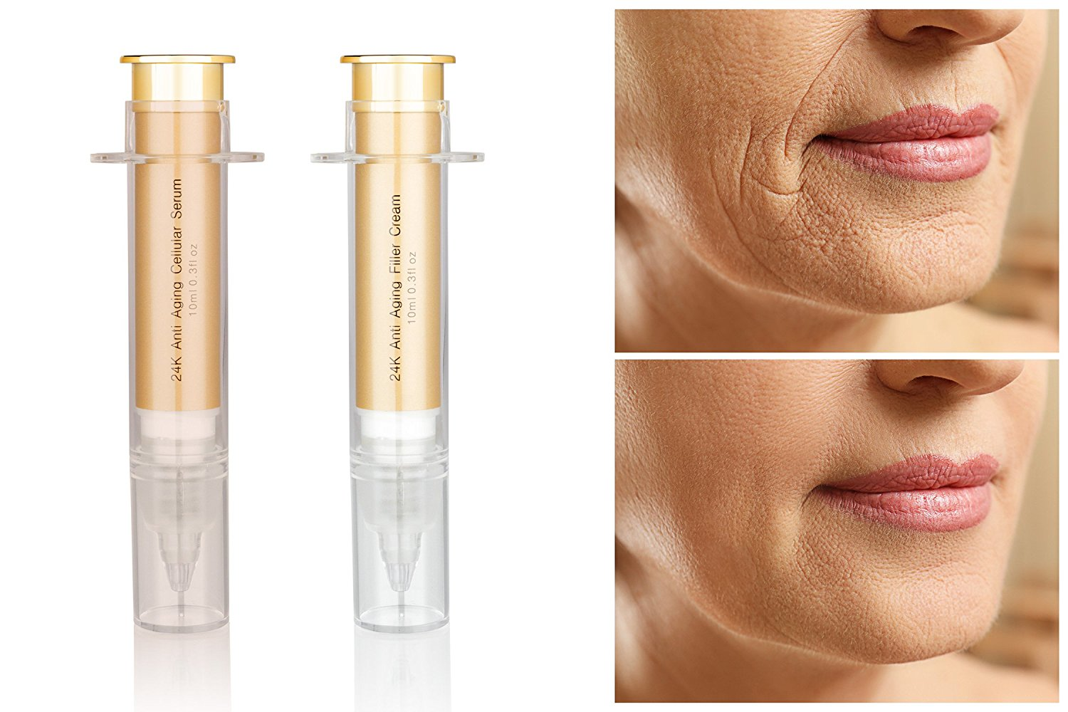 24K Lifting Facial Serum Ideal for Smoothing of Fine Lines and Wrinkles - 2 Oz SKIN & CO Truffle Polishing Micro Exfoliating Face Grommage 8.4 fl oz