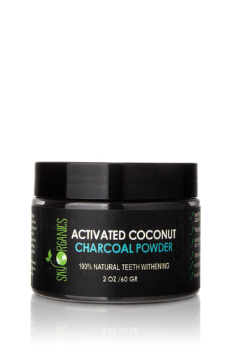 Activated Coconut Charcoal Natural Teeth Whitening Powder