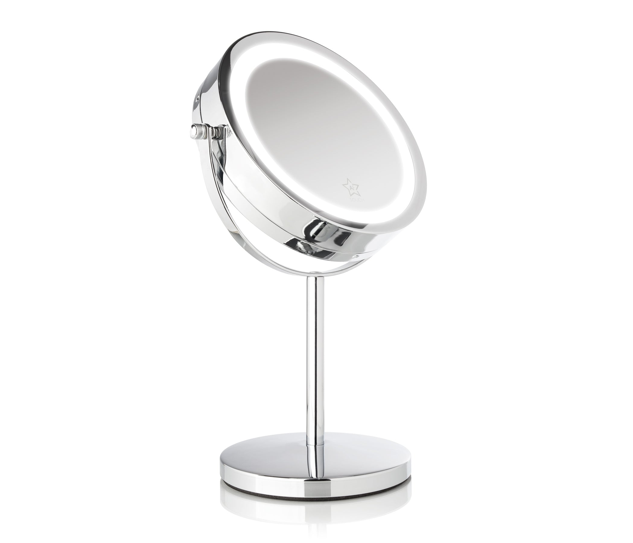 "ALMOST FAMOUS - Glam Series 7"" Intelligent Dual Touch LED Vanity Mirror"