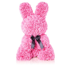 The Forever Handmade Pink Rose Petal Bunny w/ Ribbon & Gift Box - *Best Holiday Gift*