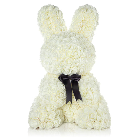 The Forever Handmade Rose Petal Bunny w/ Ribbon