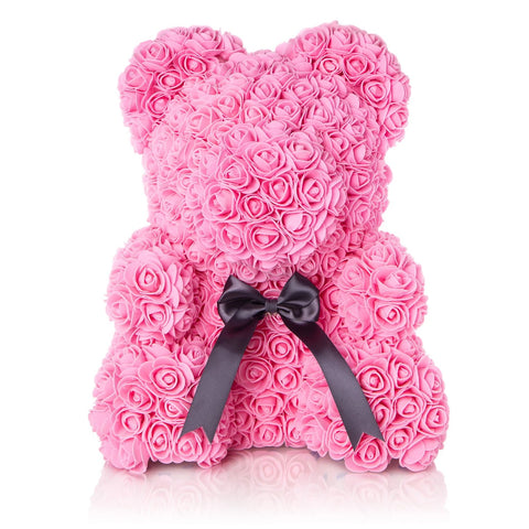 The Forever Handmade Rose Petal Teddy Bear w/ Ribbon