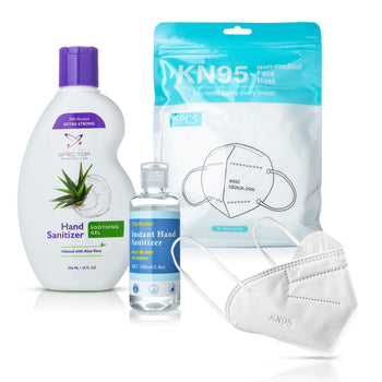 Protect & Prevent 7-Piece Bundle - KN95 Masks and Hand Sanitizers