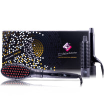 Deluxe 3in1 Interchangeable Stylers - Straightening Brush, Round Brush and Curler