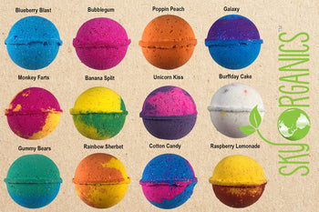 Kids Bath Bomb Gift Set of 12 with Toys