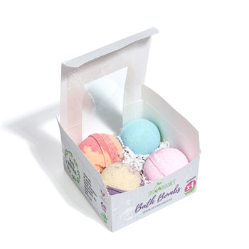 Bath Bombs Gift Set - 4 Supersized Bath Bombs