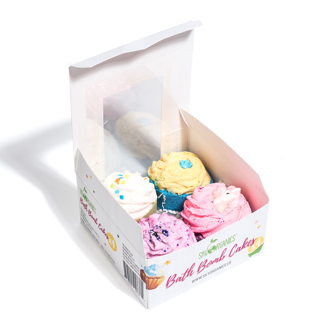 Bath Bomb Cupcakes Gift Set - 2in1 Bath Bomb and Bubble Bar
