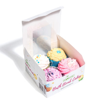 Bath Bomb CUPCAKES 4 pcs Gift Set