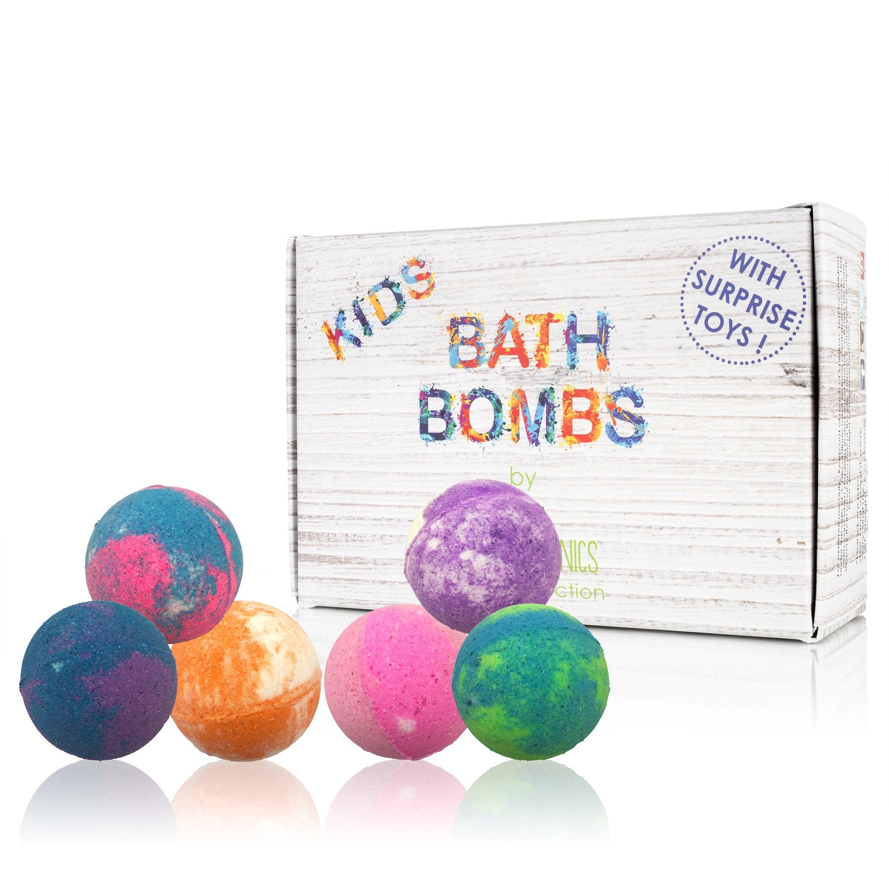 SKY ORGANICS - 6-Piece Sweet Like Candy Bath Bombs Assorted Set with Surprise Toy