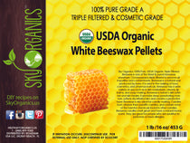 Organic White Beeswax Pellets