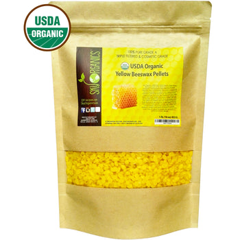 Organic Yellow Beeswax Pellets
