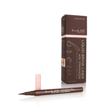 2-in-1 Liquid Brow Liner with Brow Growth Enhancer (Dark Brown)