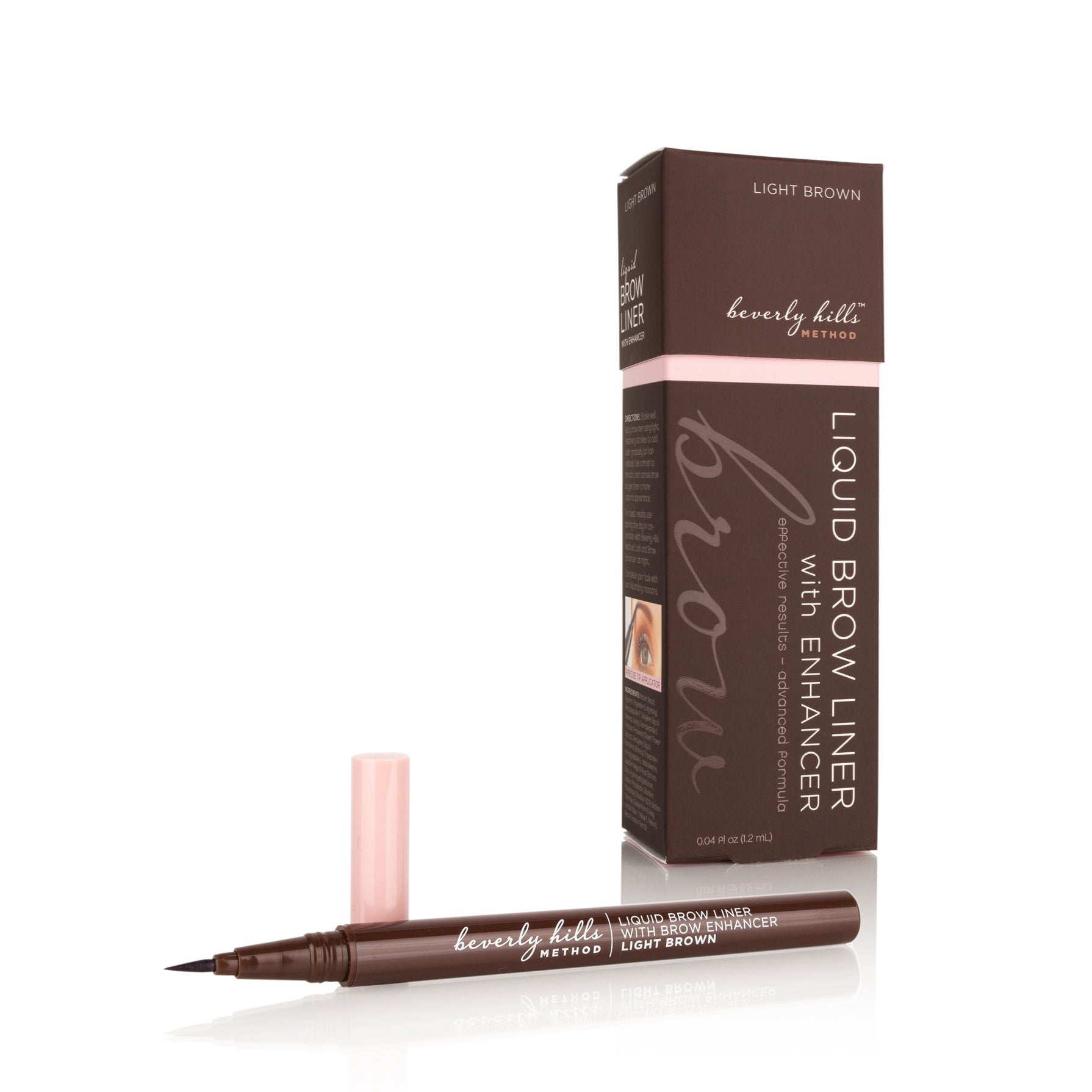 2in1 Liquid Brow Liner with Brow Growth Enhancer - Light Brown