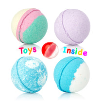 Handmade Bath Bombs for Kids w/ Surprise Toy Inside