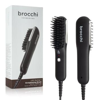 LED Styling + Straightening Brush for Men