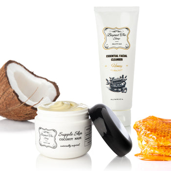 Holiday Gift Set Moisturizing Coconut Mask & Essential Honey Facial Cleanser