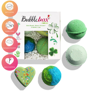 Deluxe Luck of the Irish BubbleBox - (2 Bath Bombs, 1 Steamer & 1 Bubble Scoop)