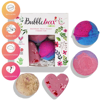 4-Piece Deluxe Hearts & Roses Bath Bombs BubbleBox