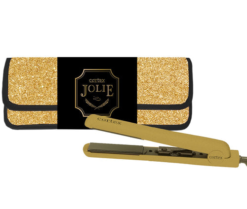 1.25'' Designer Ceramic Flat Iron Gift Set With Matching Heat Resistant Pouch