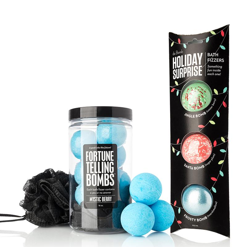 Relaxing Bath Bombs for Every Mood - Fortune Telling Bomb Jar + Holiday Exclusive Pack
