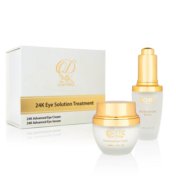 24K Gold Eye Anti-Aging Solution Treatment - Eye Cream and Serum