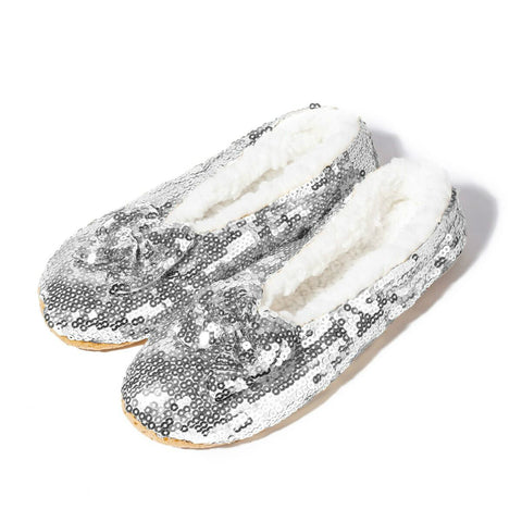 HOLIDAY Dorothy Sparkly Slippers with Faux Sherpa Lining