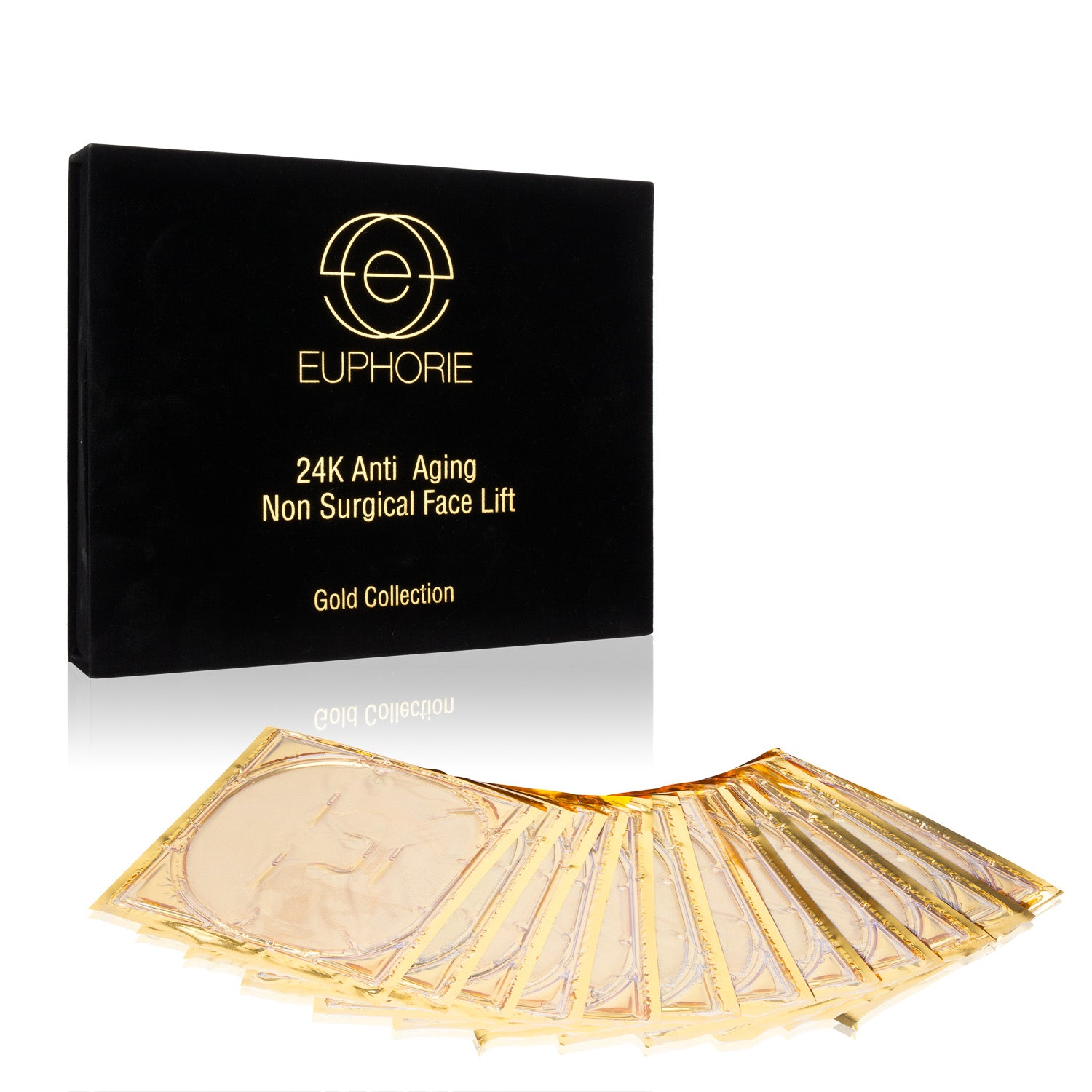 EUPHORIE - 24K Gold 12 PACK - Non-Surgical MIRACLE Face Mask (1 Year Supply)