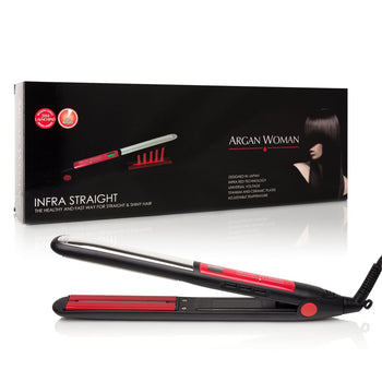"Titanium Infra Straight Iron 1"" - Black & Red"