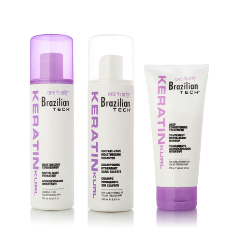 Smoothing and Straightening Keratin Hair Trio System