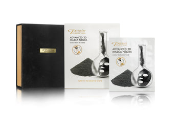 12-Piece Charcoal Detox Advanced Treatment 3D Masca Negra Set