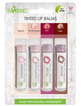 Organic Supple Lips Tinted Lip Balms 4pk