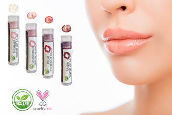 Organic Supple Lips Tinted Lip Balms - 4 Pack Assorted Colors