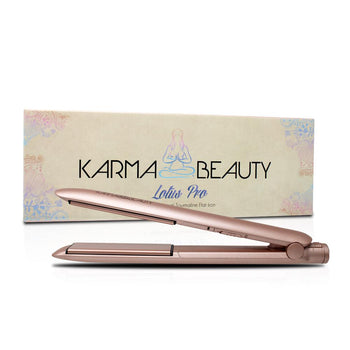 "Lotus 1"" Flat Iron w/ Tourmaline Plates - Rose Gold"