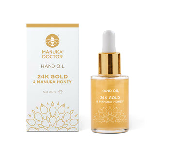 24K Gold & Manuka Honey Hydrating Hand Oil (0.85 fl. oz)
