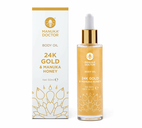 24K Gold & Manuka Honey Glowing Body Oil (1.69 fl. oz)