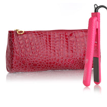 "Pure Ceramic 1.25"" Flat Iron with Glam Pouch"