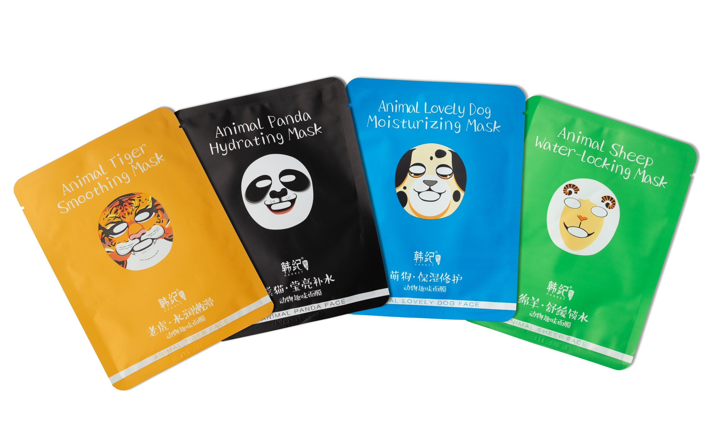 Secret Skin 4 Pack of Animal Character Premium Sheet Masks