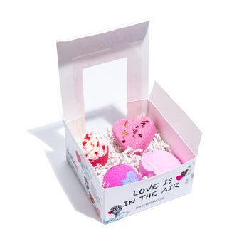 4-Piece Fizz the Love Bath Bombs and Bubble Box Set