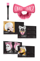 OMG! Go Bold and Treat Your Skin Kit - Masks, Facial Brush and Hairband