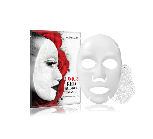 OMG! Deep Cleansing & Exfoliating Red Bubble Mask