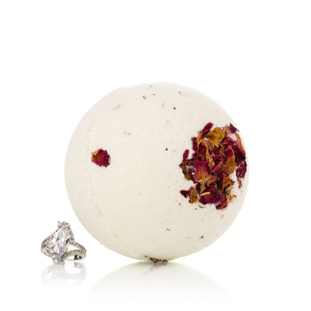 Morning Rose Ring Bath Bomb with Luxury Ring Surprise