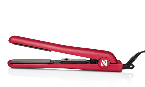 Soft Touch Metallic Flat Iron w/ Ceramic Floating Plates